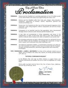 Proclamation Santa Clara California