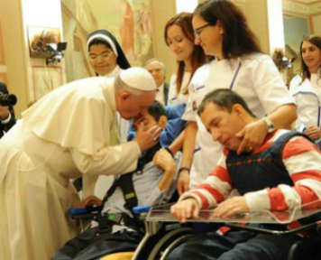 Pope showing Compassion
